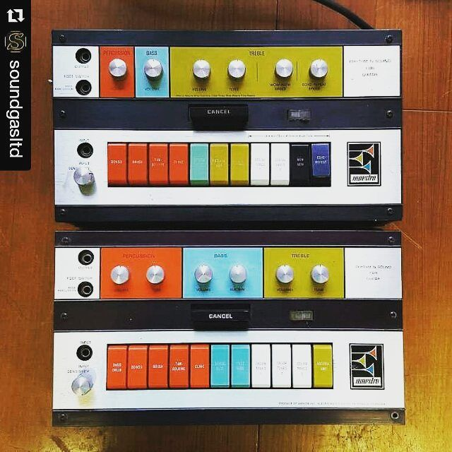 Repost @soundgasltd:  This is just a little taster of the Maestro Madness to come. Great with guitar bass keys synth there's still no modern equivalent of what these Rhythm & Sound boxes do (that's a G-2 and a G-1 there). Maybe there's no need; maybe one bonkers synth/fuzz/octave unit in the world is enough...