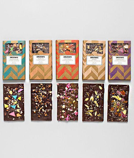 """Black Box – Colección 5 chocolates estilo """"Bark"""""""
