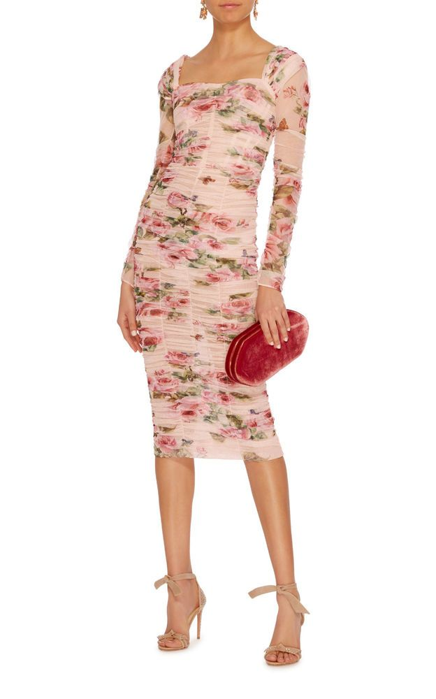 Dolce And Gabbana Silk Tulle Body Forming Rose Print Dress 38 Fashion Clothing Shoes Accessories Womensclothing Dresses Ebay Link In 2018