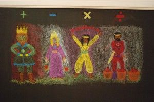 Waldorf ~ 1st grade ~ Math ~ Four Processes ~ chalkboard drawing