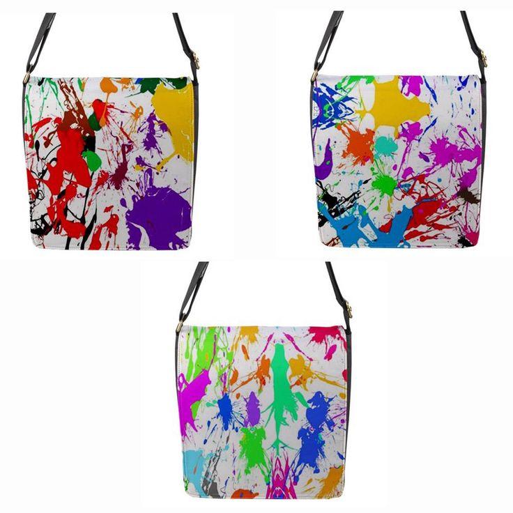 Paint Splatter Chameleon Removable Flap Shoulder BAG Regular | eBay