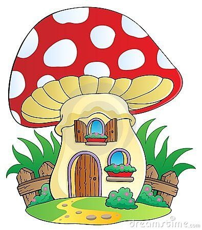 Cartoon Mushrooms | Cartoon Mushroom House Royalty Free Stock Photos - Image: 24200508