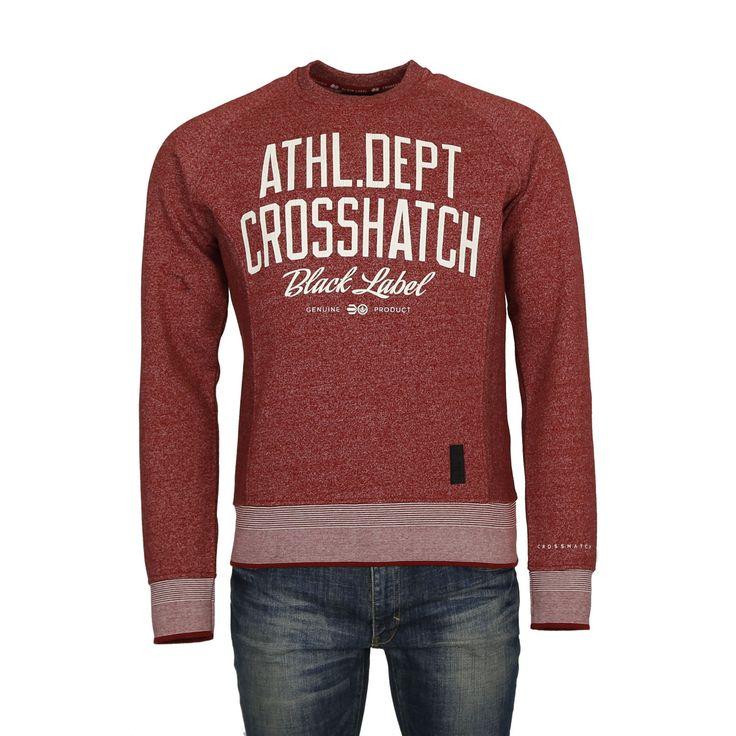 Crosshatch Truman Sweater M ( CH2E110989-RED ) - http://men.bybrand.gr/crosshatch-truman-sweater-m-ch2e110989-red/