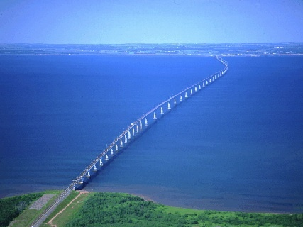 Confederation Bridge....from New Brunswick to Prince Edward Island.
