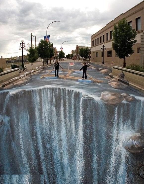 Sidewalk Art...Dont know if I could walk across it