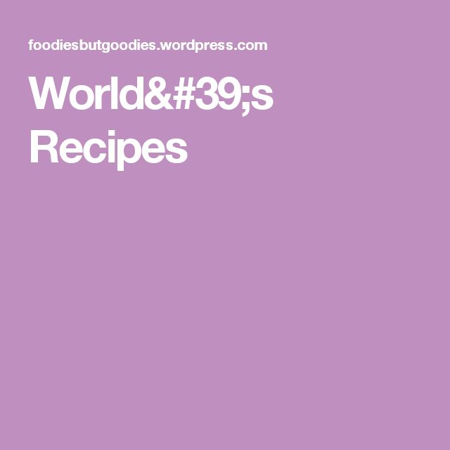 World's Recipes