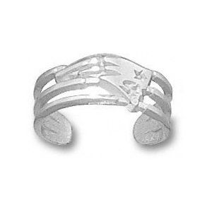 NFL - New England Patriots Sterling Silver Logo Toe Ring