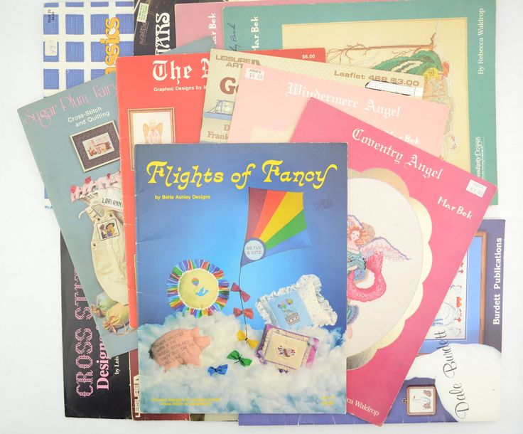 Lot of 14 Vintage Cross Stitch Patterns, Booklets, and Leaflets http://www.bonanza.com/listings/Lot-of-14-Vintage-Cross-Stitch-Patterns-Booklets-and-Leaflets/487425083
