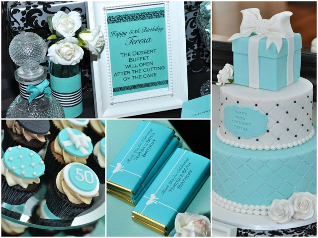 Tiffany Inspired 50th Birthday Party by Sweet Little Party Company