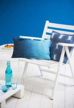 Housse de coussin « Tie and Dye » | #bleu #tiedye