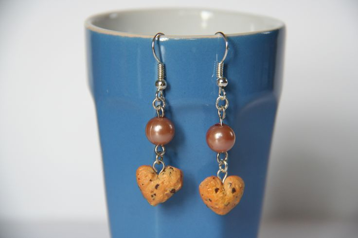 Boucles d'oreilles | Cookies cœur | Fimo || Earrings | Cookies heart | Polymerclay