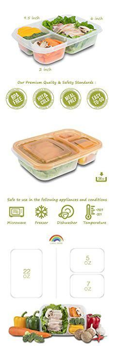Multi Compartment Tupperware. Meal Prep Containers 3 Compartment - Food Storage Containers with Lids , Thick | BPA Free | Reusable Bento Lunch Box - More Durable lunch containers - for Portion Control 21 Day Fix [7-Pack].  #multi #compartment #tupperware #multicompartment #compartmenttupperware