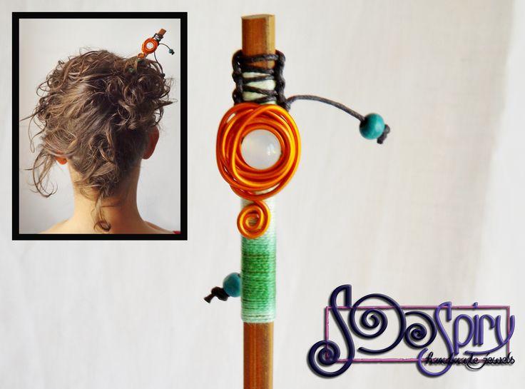 Spillone etnico per capelli, fermaglio per capelli,ferma capelli, accessorio per capelli,accessorio etnico per capelli,bacchetta per capelli