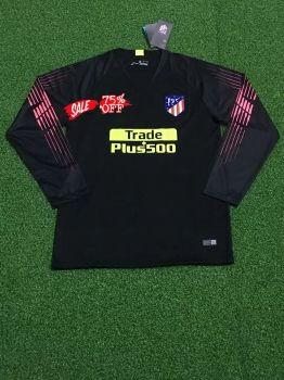 2018-19 Cheap Goalie Jersey Atletico Madrid Black LS Replica Soccer Shirt   DFC164  ebaf8d964
