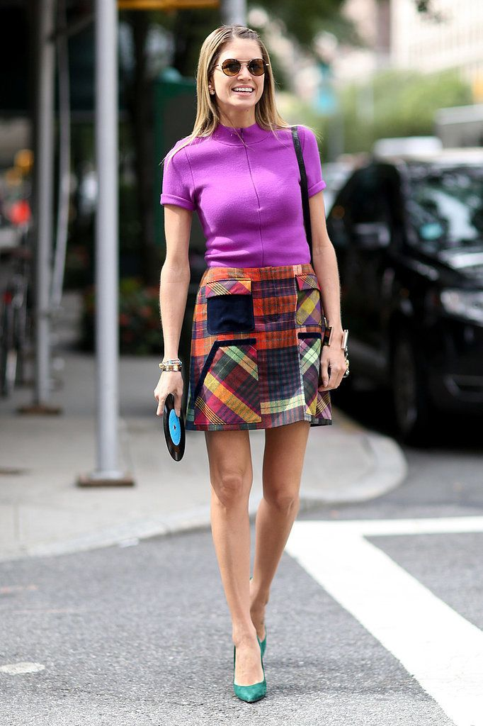 Helena Bordon brought bold color and a little '60s flair to #NYFW.