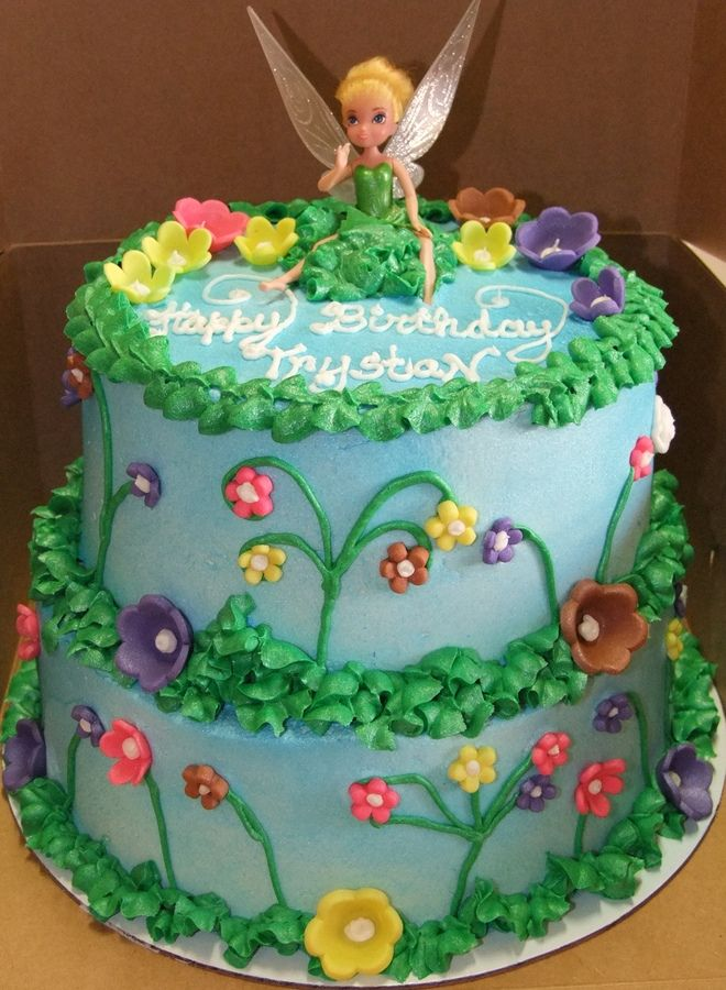 Tinkerbell Cakes Tinkerbell Cake 2 Tiered Tinkerbell