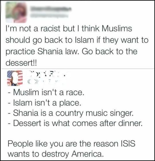 I think ISIS just wants to direct hate towards something :'( Other than that, this tweet is hilarious!!!  Shania law: | The 28 Absolute Dumbest Things That Happened In 2016