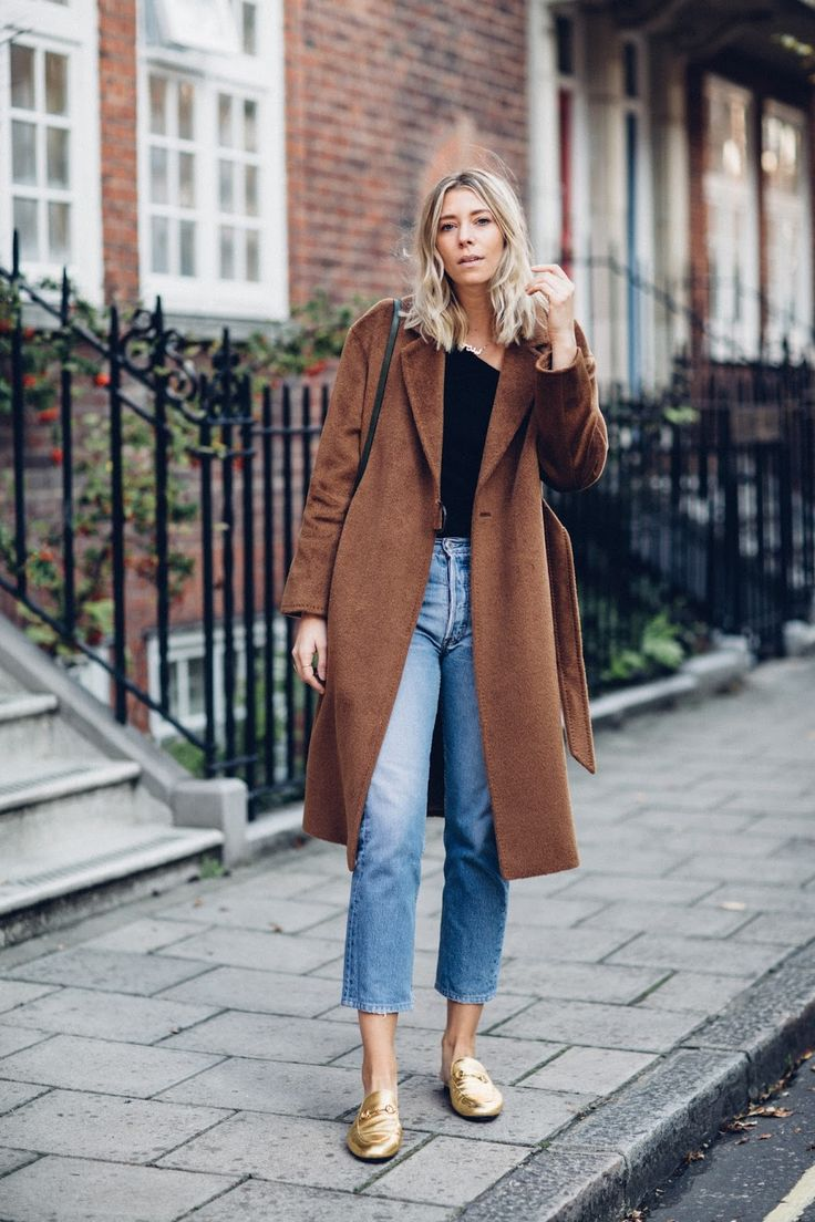 brown winter coat (Lindsey Holland)