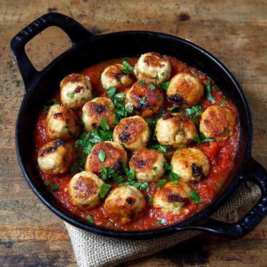 Chicken and Sun-Dried-Tomato Meatballs