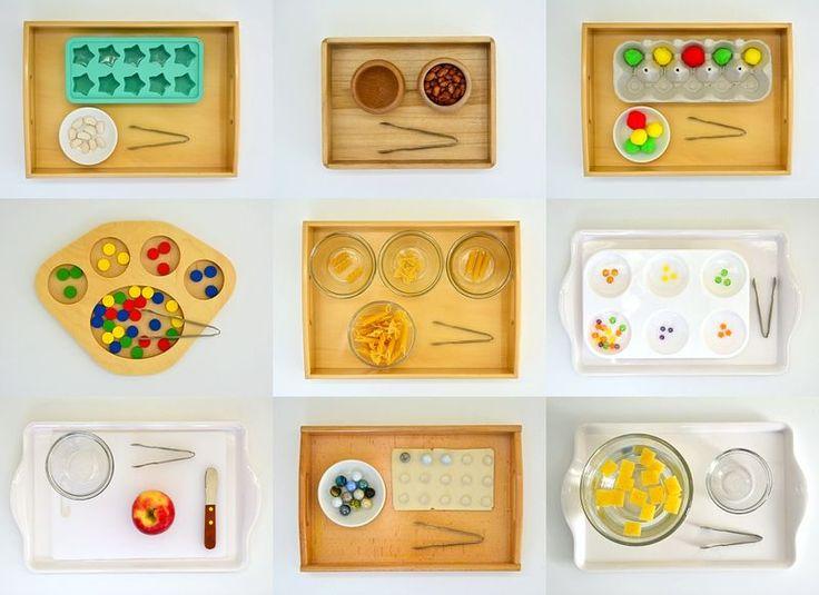 Montessori Activities - Transferring with Mini Tongs or Tweezers