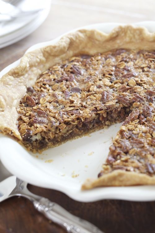 Oatmeal Chocolate Chip Pecan Pie from @Alison Lewis | Ingredients Inc