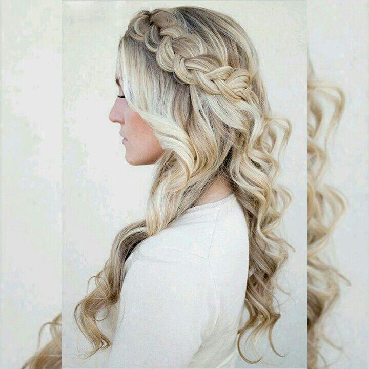 #Dica #Penteado #Trança #Noiva #Pinterest