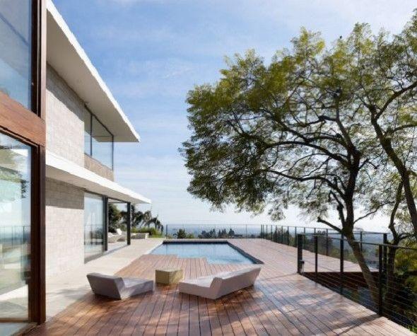 sontuoso california contemporaneo piattaforma esterna casa