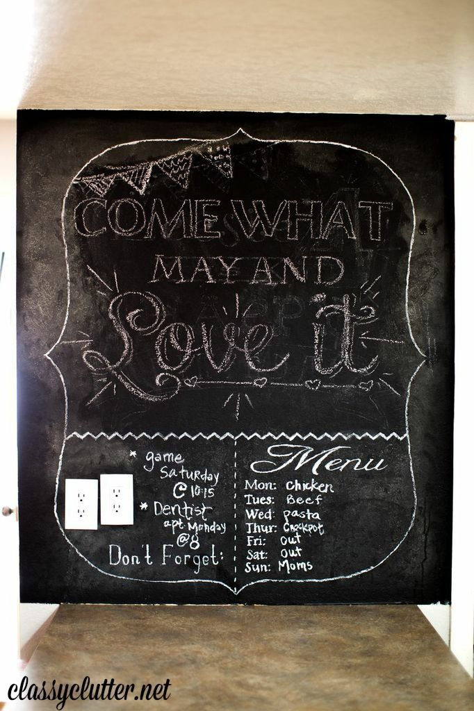 1000 Images About Chalkboard Wall Ideas On Pinterest