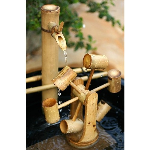 29 best bamboo water fountains images on pinterest for Bamboo water feature