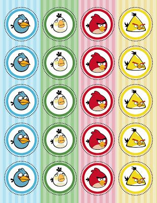 Kit Festa Angry Birds para imprimir - Dicas pra Mamãe