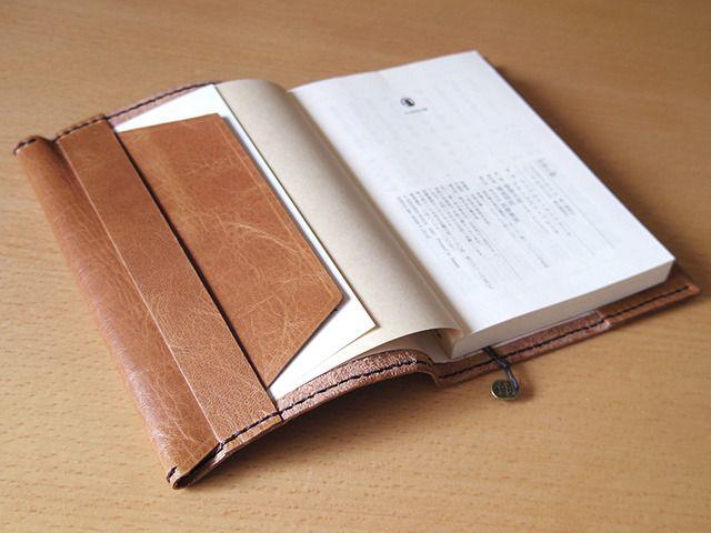 革のブックカバー(文庫サイズ) | ハンドメイドマーケット minne