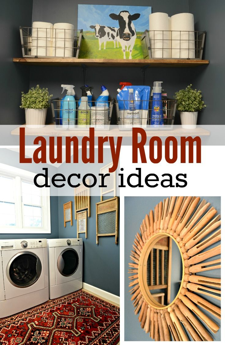 Laundry Room Decor Ideas. Great organization and decor tips!