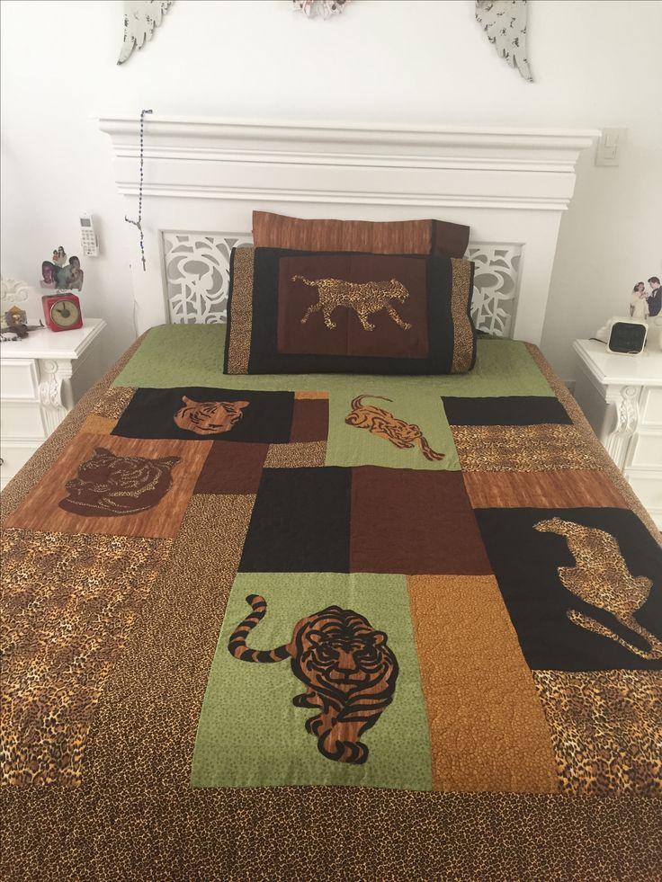 Elaborado por Guela Mainieri tigres patchwork