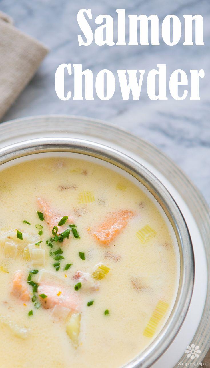 Salmon Chowder! ~ Chowder With Fresh Salmon, Bacon, Leeks, Celery, Potatoes