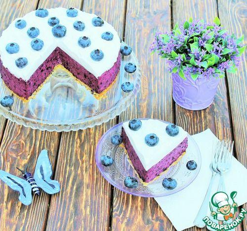 Cheesecake with blueberries. Черничный Чизкейк со взбитыми сливками - кулинарный рецепт