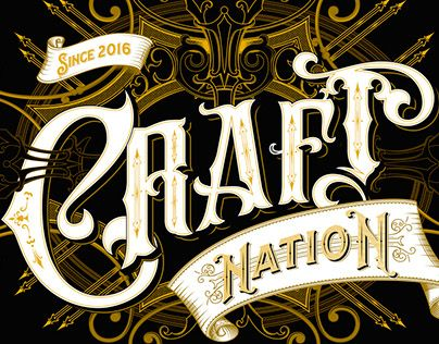 "Check out new work on my @Behance portfolio: ""Craft Nation - handlettered logo"" http://be.net/gallery/47246483/Craft-Nation-handlettered-logo"