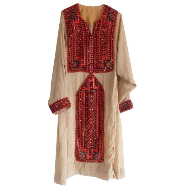 Vestido Afgano Vintage. Piezas únicas hechas y bordadas a mano.