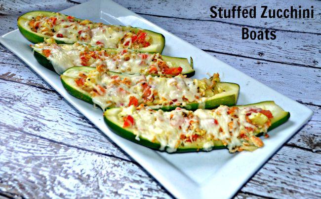 Stuffed Zucchini Boats #Recipe