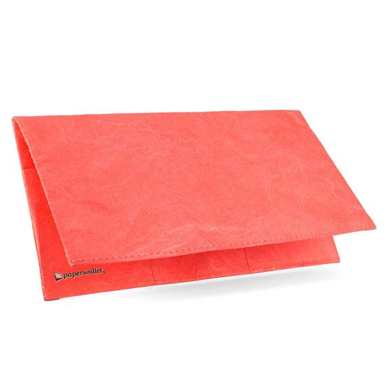 Paper-Thin Clutch Unisex for Men & Women - Peach Design - Made in Tyvek - Eco-friendly and 100% Recyclable