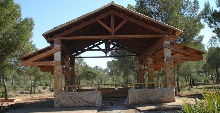 Pérgolas a 2 aguas - Incofusta fabrica de madera en Valencia