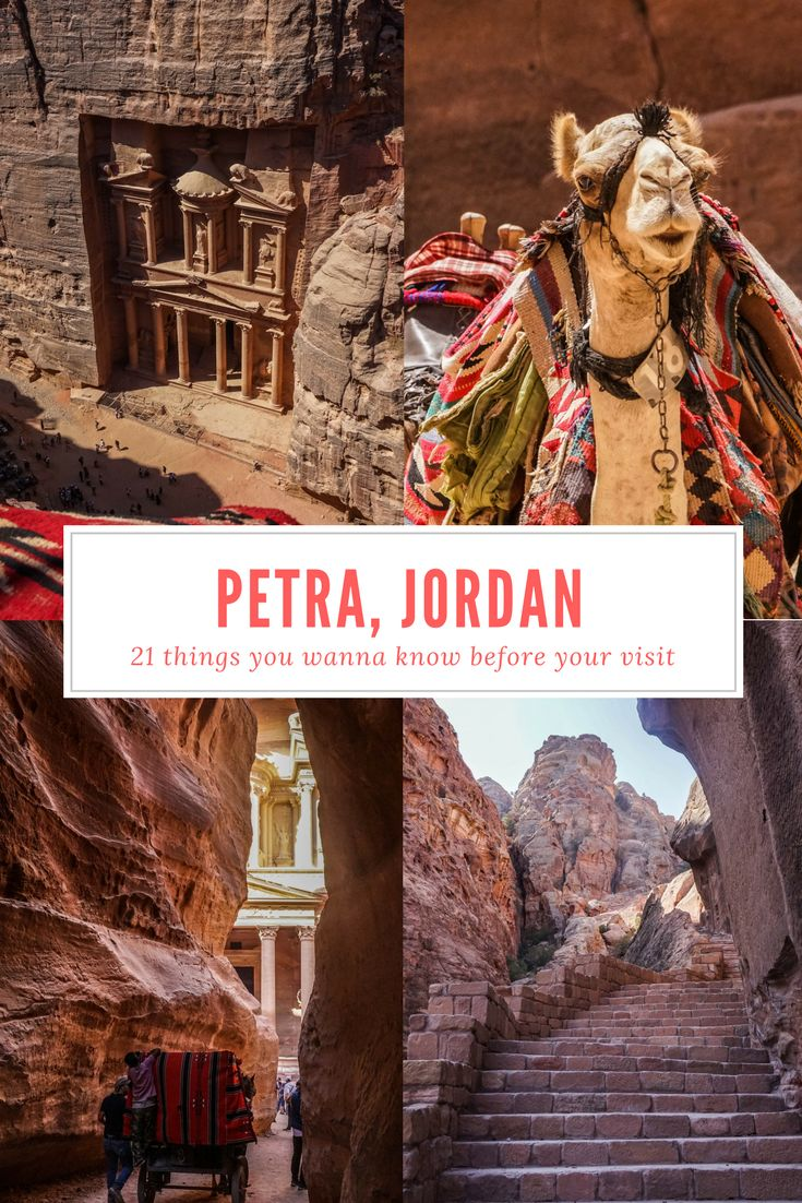 Petra in Jordan is one of the most magical places I've been to. Are you heading to this part of the Middle East as well? I'm sharing 21 things you wanna know before your visiting #Petra in #Jordan! #middleeast #travel
