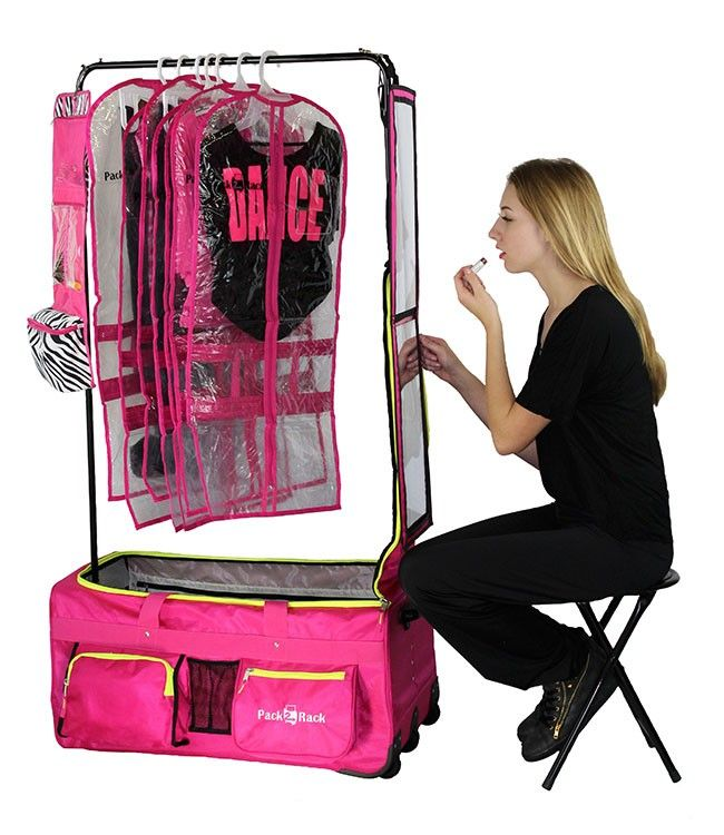 Pack 2 Rack Rolling Foldable Dance Bag