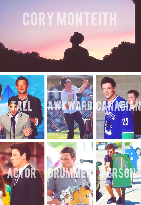 Cory Monteith!!! R.I.P Glee won't be the same without him