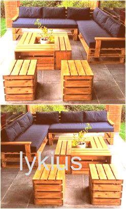 paletten garten #garten #garten Jardin : 30 meubles en palettes super chouettes …