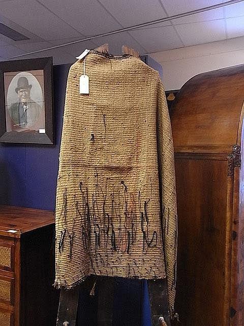 A Maori Korowai (cloak) crafted from dressed muka (flax fibre)
