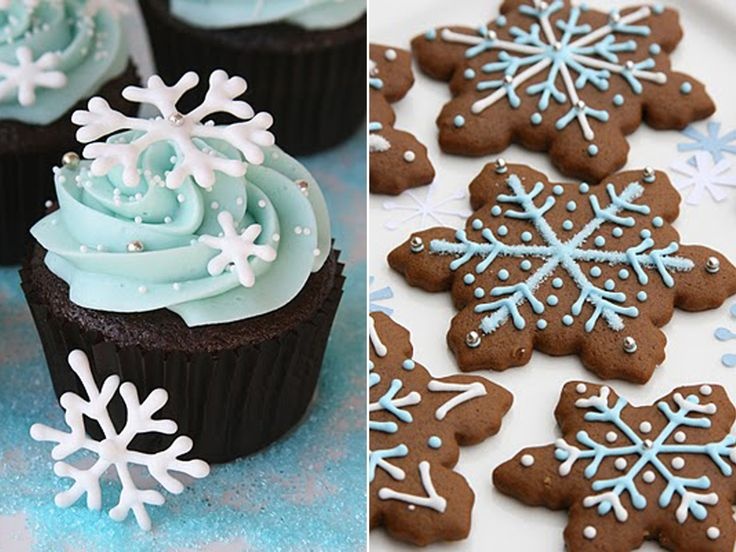 love color combo. love the blue icing on the gingerbread.