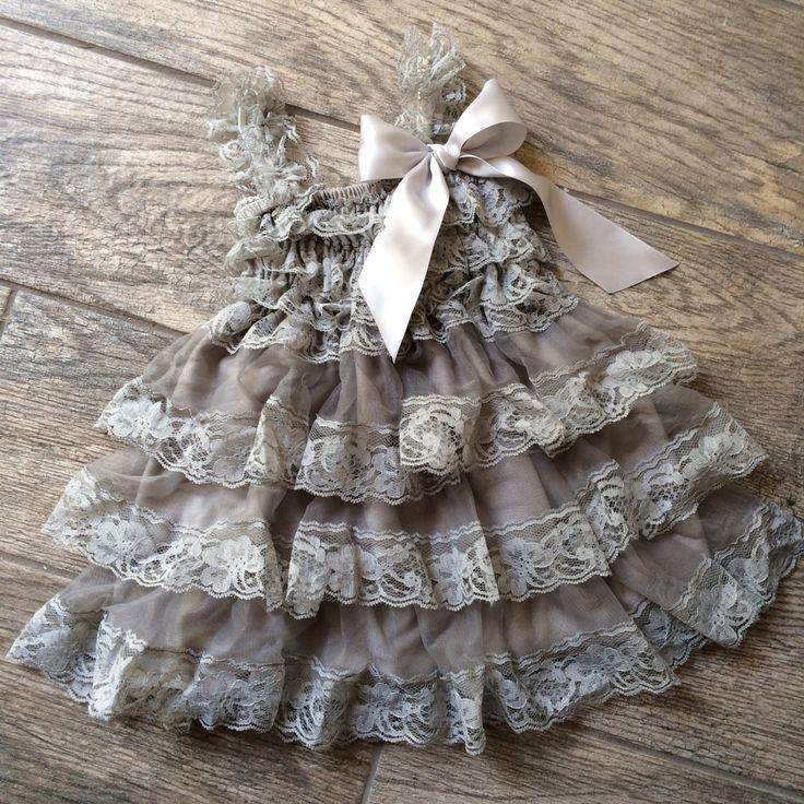 Grey+lace+dressvintage+lace+dressflower+girl+by+Abelialane+on+Etsy,+$34.95
