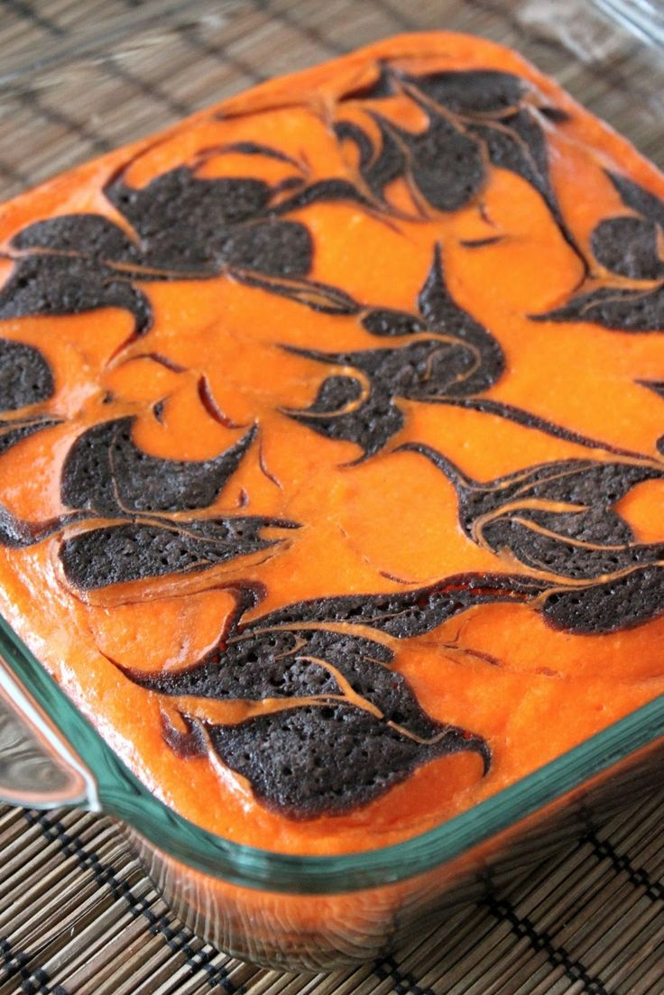 holidays events cream cheese swirl halloween brownies halloween cream cheese swirl brownies recipe adapted from sunny anderson host - Halloween Brownie Recipe