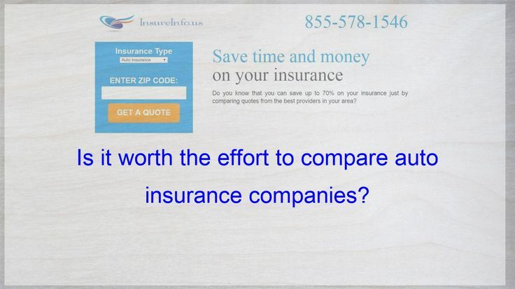 Is It Worth The Effort To Compare Auto Insurance Companies Auto