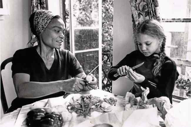 Eartha Kitt grew vegetables and raised chickens in her Beverly Hills backyard, and taught daughter Kitt to respect the earth.